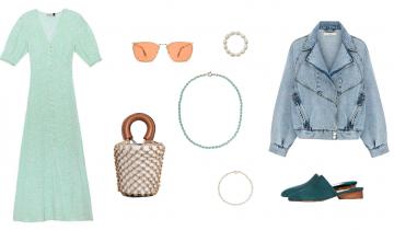 Sukienka w kwiaty i kurtka jeansowa – duet idealny